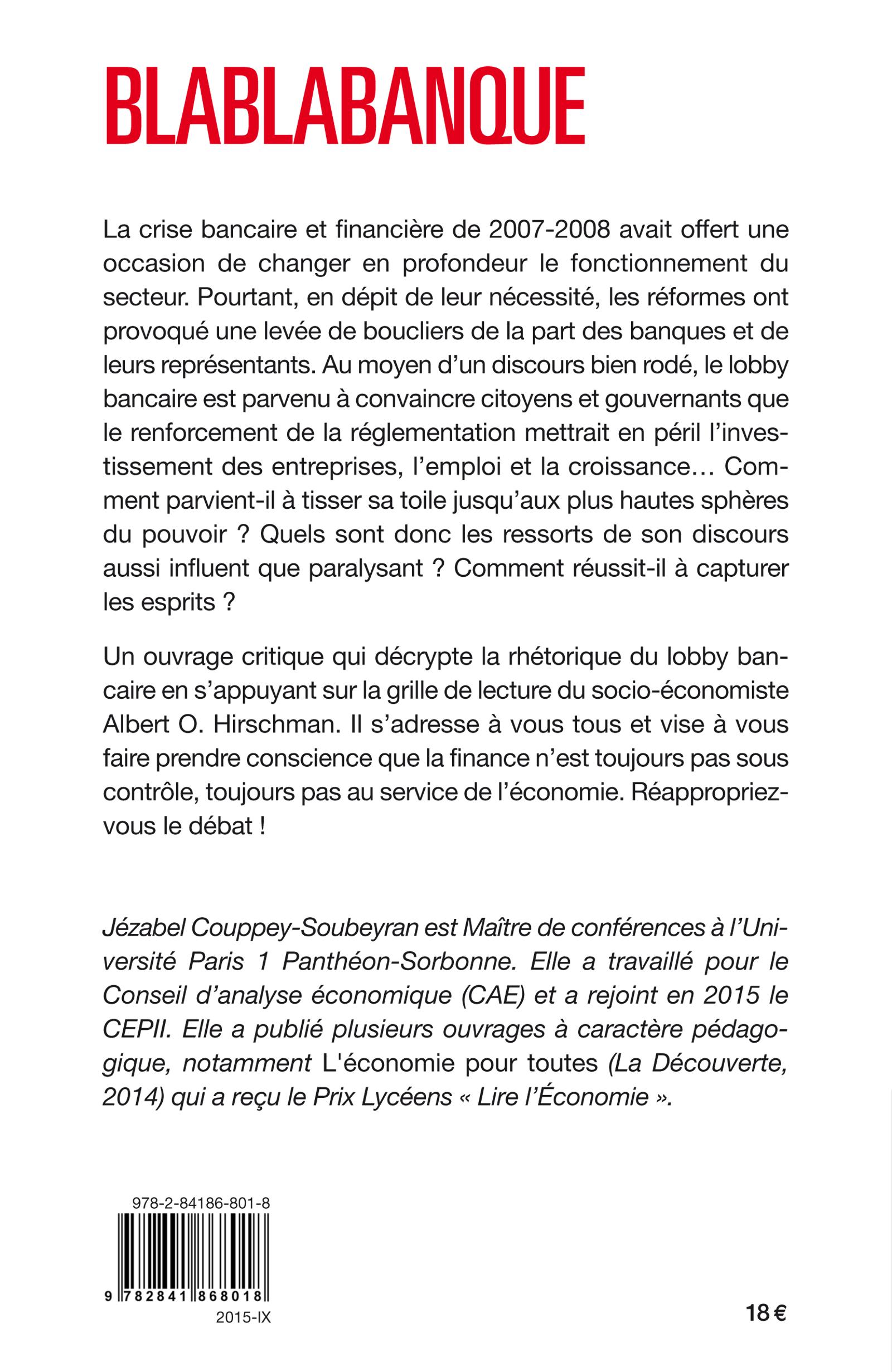 Blablabanque le discours de l 39 inaction j zabel couppey - Grille de salaire secteur bancaire tunisie ...